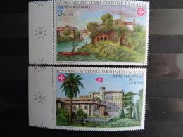S.M.O.M 1982 UNIFICATO N° 211 & 212 ** - AVENTINO IERI E OGI - Malte (Ordre De)