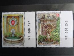 S.M.O.M 1983 UNIFICATO N° 213 & 214 ** - FONTAINES ANTIQUES - Malta (Orden Von)