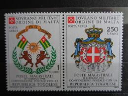 S.M.O.M 1983 UNIFICATO N° A 3 & A 4 ** - POSTA AEREA - Malte (Ordre De)