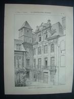 ARCHITECTURE..GRAVURE De 1898.. MAISON Rue Saint Patrice à ROUEN (76) - Architecture