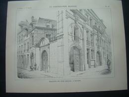 ARCHITECTURE..GRAVURE De 1898.. MAISON Du XVIIe SIECLE à ROUEN (76) - Architecture
