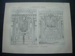 ARCHITECTURE..GRAVURE De 1898.. CONCOURS ROUGEVIN. Une GALERIE - Architecture