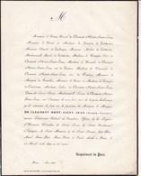 PARIS Marquis De CLERMONT MONT-SAINT-JEAN Joseph-Claude 64 Ans 1846 Famille De LIEDEKERKE De LAUBESPIN - Décès