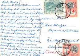PERÚ - PICTURE POSTCARD 1965 IQUITOS -> HAGENAU/ALLEMAGNE - Peru