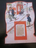 VINTAGE ANCIEN CALENDRIER HUMORISTIQUE ÉTIQUETTES MOIS DÉTACHABLES JANVIER à SEPTEMBRE Landau Vélo Pêche Poussette - Calendriers