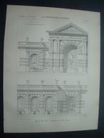 ARCHITECTURE..GRAVURE De 1898.. SALON De 1898. Décoration De M. LOVIOT - Architecture