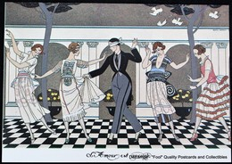 Illustration George Barbier Art Deco Amour Aveugle Collin Maillaird Love Blind  Mode 1920 - Cartes Postales
