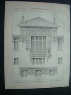 ARCHITECTURE..GRAVURE De 1898.. EXPOSITION De 1900. PAVILLON D'ADMINISTRATION...Architecte M. DEGLANE - Architecture