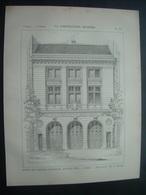 ARCHITECTURE..GRAVURE De 1898.. POSTE De SAPEURS POMPIERS, Avenue Niel à PARIS (75).. Architecte M. A. DURAND - Architecture