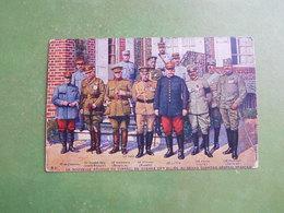 CPA NOUVELLE REUNION CONSEIL DE GUERRE ALLIES QUARTIER GENERAL FRANCAIS JOFFRE SIR HAIG PECHITCH SERBIE GILINSKY PORRO - Guerre 1914-18