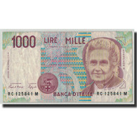 Billet, Italie, 1000 Lire, 1990, 1990-10-03, KM:114a, B+ - [ 2] 1946-… : République