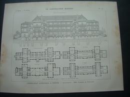 ARCHITECTURE..GRAVURE De 1898.. ORPHELINAT AUDIFFRED, à TROYES (10).. Architecte MM. FORGEOT Et FONTAINE - Architecture