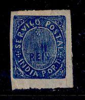 ! ! Portuguese India - 1877 Native 40 R - Af. 42 - MH - Portuguese India