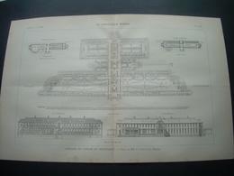 ARCHITECTURE..GRAVURE De 1898.. CONCOURS De L'AVENIR Du PROLETARIAT... Projet De MM. F. CAPRON Et G. REVENEY - Architecture