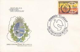 FDC - AÑO INTERNACIONAL DE LA PAZ.-URUGUAY-TBE-BLEUP - Uruguay