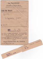 SALAIRE Prisonnier ALLEMAGNE Duisburg Lager Januar 1944 - 3° Reich WW2 Duperray Jean (Matricule 32073) Né En 1922 - Allemagne