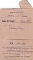 SALAIRE Prisonnier ALLEMAGNE Duisburg Lager März 1944 - 3° Reich WW2 Duperray Jean (Matricule 32073) Né En 1922 - Allemagne