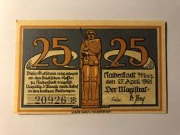 Allemagne Notgeld Halberstadt 25 Pfennig - [ 3] 1918-1933 : Weimar Republic