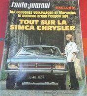 L'Auto Journal N°15 6 Août 1970 Nouvelle Simca Chrysler, Essai Simca 1100 S, Ligier, Voisin 1926, Jochen Rindt - Auto/Moto