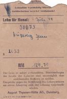 SALAIRE Prisonnier ALLEMAGNE Duisburg Lager Juli 1944 - 3° Reich WW2 Duperray Jean (Matricule 32073) Né En 1922 - Allemagne