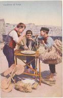 B005 - ANTICHI MESTIERI VENDITORI DI SCOPE SPAGHETTI NAPOLI 1920 CIRCA - Ambulanti