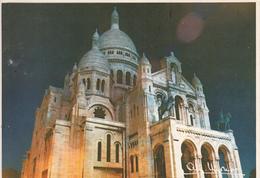 Albert MONIER  - Paris - La Basilique De Sacré Coeur  De  Montmartre Illuminée - Monier