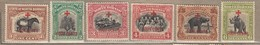 NORTH BORNEO 1918 Red Cross Six Stamps MVLH(*) #12814 - Nordborneo (...-1963)