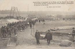 Construction Et Lancement Sur La Marne Par Les Sapeurs Du 5e Génie De Versailles, Du Pont Système Marcille ............. - France