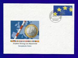 BRD 2003 Mi.Nr. 2373 , EUROPA CEPT Mitläufer -10 Jahre Vertrag Von Maastricht - GANZSACHE Gestempelt / Used / (o) - Europa-CEPT