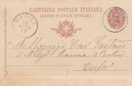 Barile. 1897. Annullo Grande Cerchio BARILE, Su Cartolina Postale Con Testo - 1878-00 Umberto I