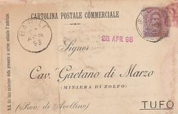Barile. 1898. Annullo Grande Cerchio BARILE, Su Cartolina Postale - 1878-00 Umberto I