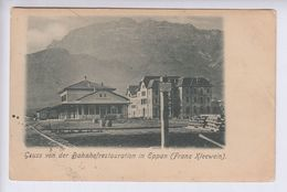 OLD POSTCARD   ITALY - STAZIONE - EPPAN - BAHNHOFRESTAURATION - FRANZ KLEEWEIN - Bolzano (Bozen)