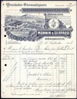 FACTURE OU LETTRE ANCIENNE DE BÉDARIEUX- 1913- TUILERIE- CERAMIQUES- TRES BELLE ILLUSTRATION- 2 SCANS- - France