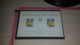 FR-313 PERU PRO ANO MUNDIAL DE LOS REFUGIADOS BF NUOVO ** - Peru
