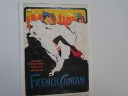 TI - CPM - Affiche De Cinema - French Cancan - Jean GABIN - Françoise ARNOULT - Affiches Sur Carte