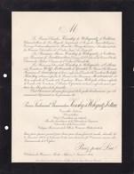 BOHEME Château De HERMAN-MESTEC Prince Ferdinand KINSKY De WCHYNITZ Et TETTAU 70 Ans 1904 Toison D'Or METTERNICH - Décès