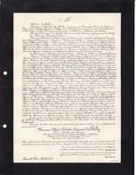 PARIS Président Société évangélique De France Alfred Adolphe De BILLY 74 Ans 1906 Confession D'AUGSBOURG - Décès