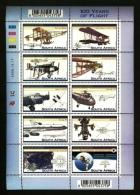 RSA, 2003, MNH Sheet Of Stamps  , SACC 1602, 100 Years Aviation, F2661 - Ongebruikt