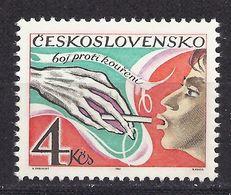 Czechoslovakia Tschechoslowakei 1981 MNH ** Mi 2638 Sc 2383 Anti-smoking Campaign . Anti-Raucherkamp - Tchécoslovaquie