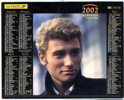 JOHNNY HALLYDAY  SYLVIE VARTAN  -  CALENDRIER 2002 - Calendriers