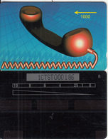 ST.KITTS & NEVIS(GPT) - Red Handset(shallow Notch), GPT Test Card 1000 Units, CN : 1CTST000186, Tirage 300, Used - St. Kitts & Nevis