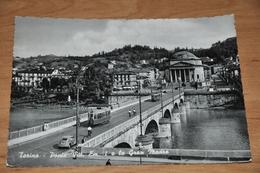 854  Torino  Ponte Vitt.  Tram  / Auto / Car / Coche / Voiture  1958 - Bridges
