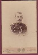 160218 PHOTO CABINET FR DE MEZER KIEFF KIEV UKRAINE MILITARIA Militaire 12 Au Col Officier - Reine Des Hellènes ROYAUTE - War, Military