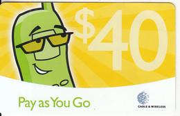 GRENADA - Cable & Wireless Prepaid Card $40, Used - Grenada