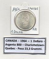 Canada - 1964 - 1 Dollaro - Charlottetown-Quebec - Argento - (MW1130) - Canada
