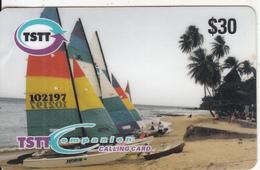 TRINIDAD & TOBAGO - Sailing, TSTT Prepaid Card $30, CN : D 008, Used - Trinidad & Tobago