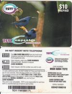 TRINIDAD & TOBAGO - Birds(glossy Surface), TSTT Prepaid Card $10, Used - Trinidad & Tobago