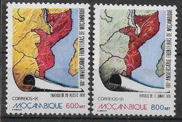 1991 MOZAMBIQUE 1207-08** Traité, Carte - Mozambique
