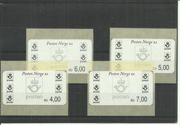 NORGE 4 ATM **  4, 5, 6 & 7 NOK - Vignette Di Affrancatura (ATM/Frama)