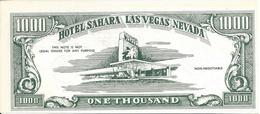 Sahara Hotel Casino - Las Vegas, NV - Vegas Vic Las Vegas Loot Fun Money Bill - Casino Cards